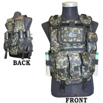 GXG Tactical Paintball Vest Digital Green