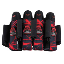 Valken Paintball Harness Crusade 4+7 Hatch Red