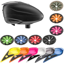 Dye LT-R Paintball Loader with Color Kit and Quick Feed Kit Black Black