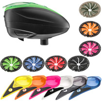 Dye LT-R Paintball Loader with Color Kit and Quick Feed Kit Black Lime