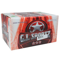 GI Sports 3 Star Paintballs 2000 Rounds Sapphire/Emerald Shell - Yellow Fill