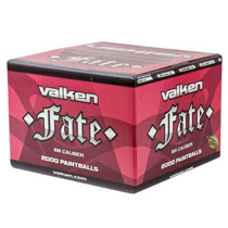 Valken Fate Paintballs 2000 Rounds Orange Shell Orange Fill