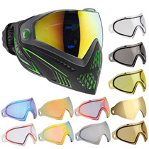 Dye I5 Thermal Paintball Goggles Emerald Black/Lime with Free Lens
