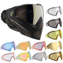 Dye I5 Thermal Paintball Goggles Onyx Black/Gold with Free Lens