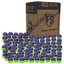 Tiberius Arms First Strike Rounds 100 Count - Purple/Green Shell Green Fill