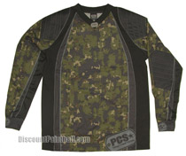 PCS Retribution Paintball Jersey Digital Jungle Camo - Large