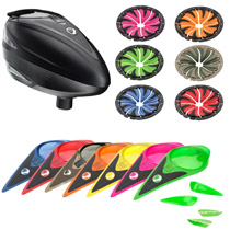 Dye Rotor Paintball Loader Black with Color Kit and Quick Feed Kit