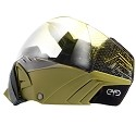 Angel Eyes Paintball Goggle Olive with Yellow Gradient Lens