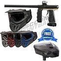 Empire Mini GS Paintball Gun Black/ Silver/ Yellow Dust with E-Vent Goggles and FREE Scion Loader