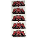 Draxxus Paintball Sticker Red 5 Pack