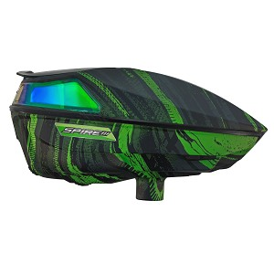 Virtue Spire III Paintball Hopper Graphic Emerald