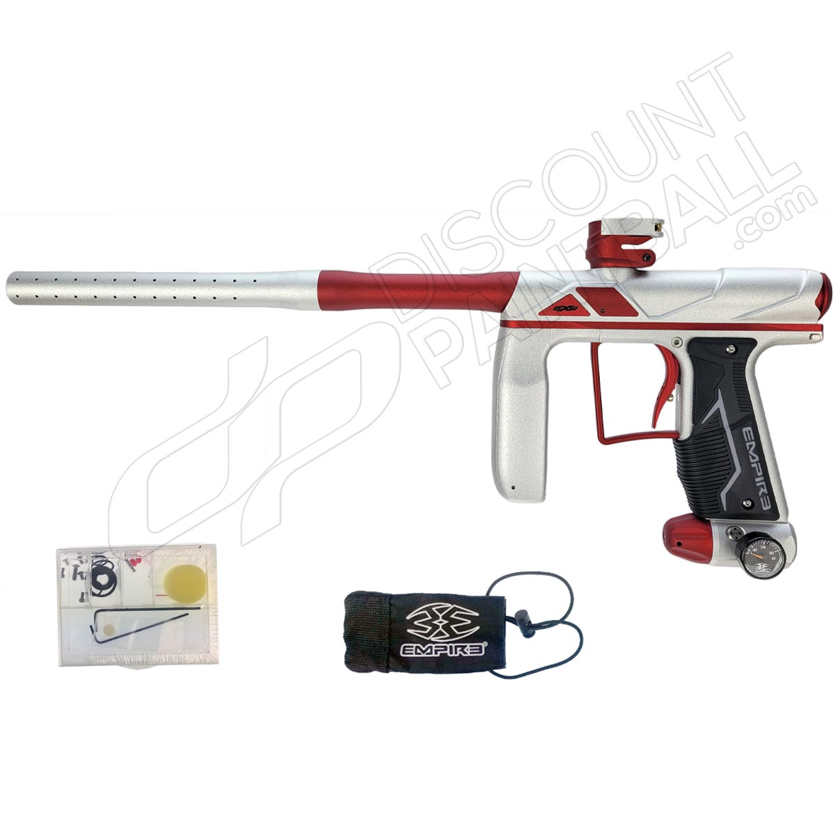 Empire Axe Pro Paintball Gun Dust Silver/Red