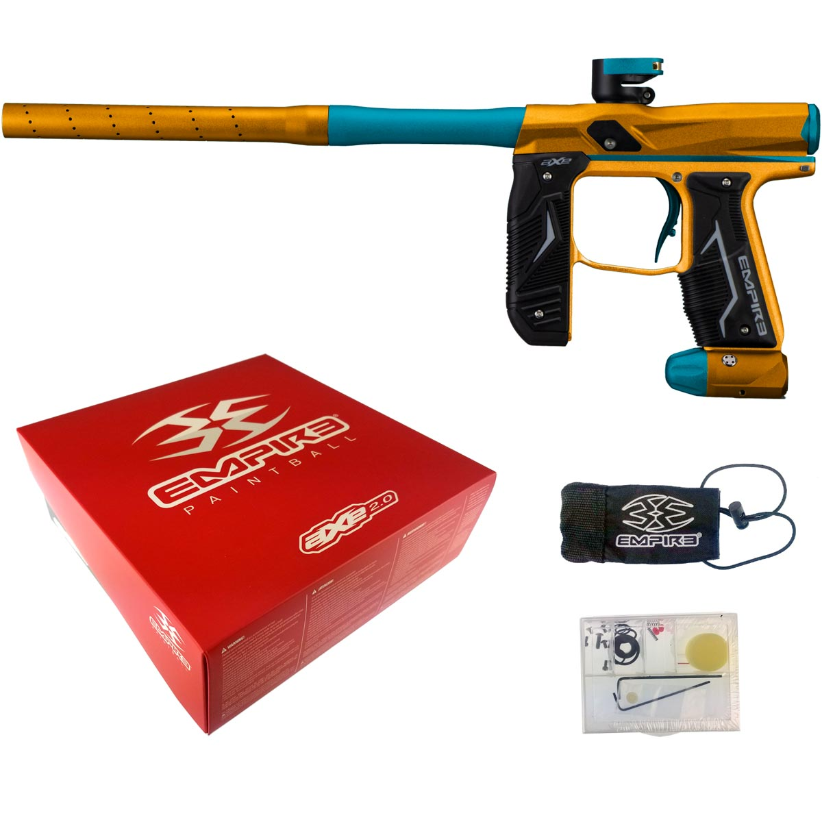 Empire Axe 2.0 Paintball Marker Dust Orange Dust Aqua