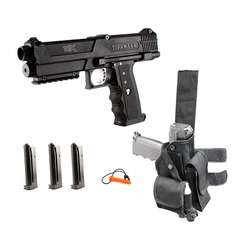 Tippmann Tipx Deluxe Paintball Gun Pistol Kit Black