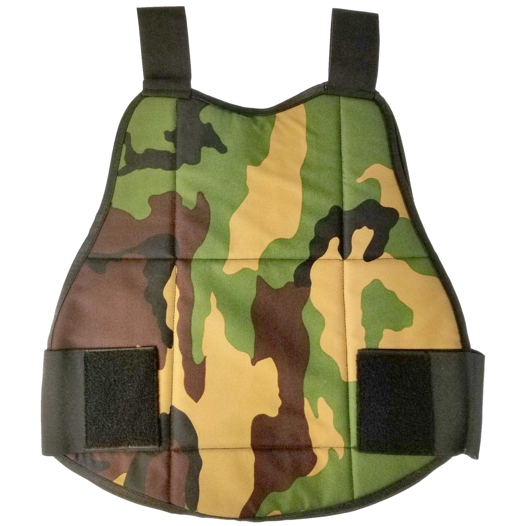 Paintball Chest Protector Camo / Black Reversible
