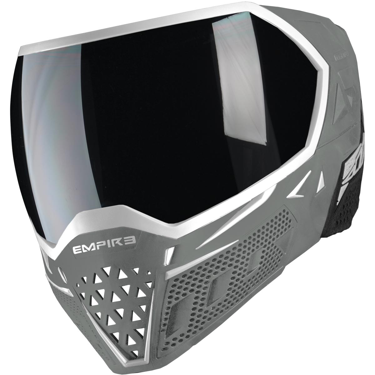 Empire Evs Paintball Mask White Grey With Extra Lens