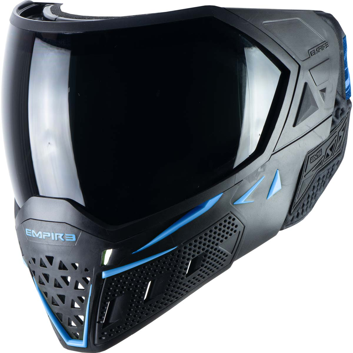 Empire EVS Paintball Mask Black Navy Blue with Extra Lens