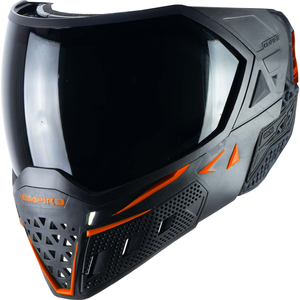 Empire EVS Paintball Mask Black Orange with Extra Lens