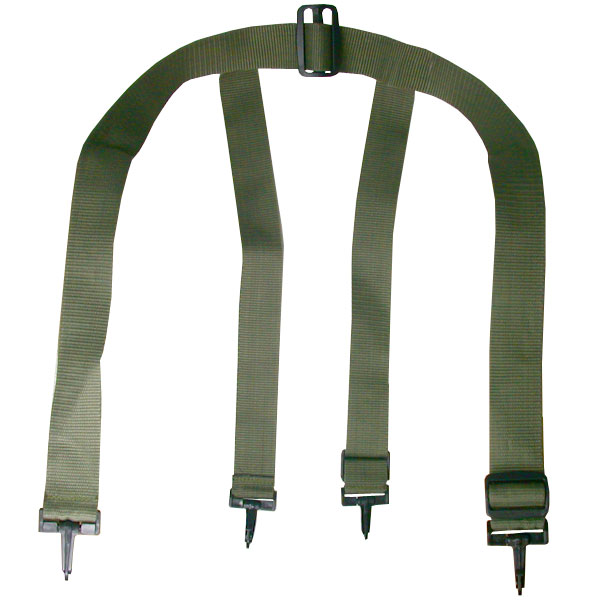 Universal Paintball Harness Pack Suspenders - Olive