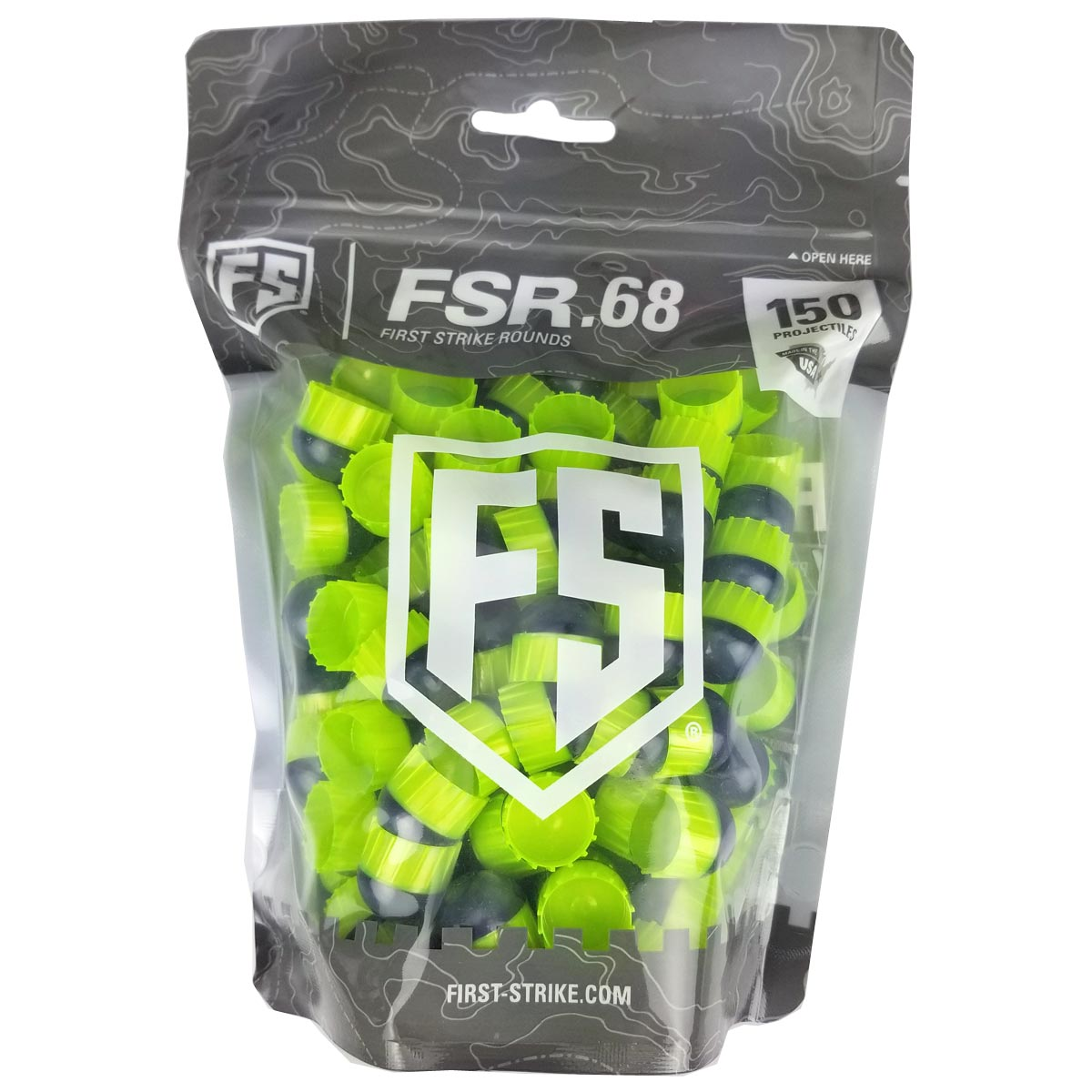 First Strike Rounds 150 Count Smoke Smoke Green Shell Green Fill