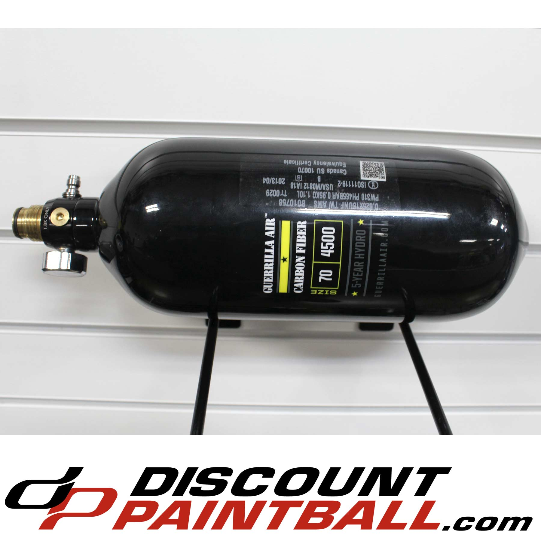 Guerrilla Air 77 ci 4500 psi Carbon Fiber Compressed Air Tank Black (exp  04/2018) *Used*