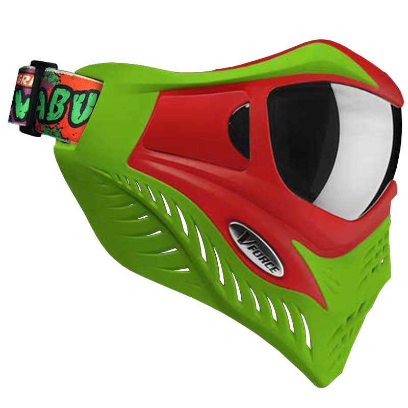 VForce Grill Paintball Goggle Mask Cowabunga Red/Green ...
