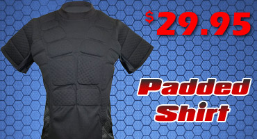 Padded shirt for paintball
