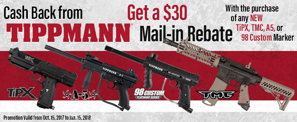 Tippmann Paintball $30 Rebate