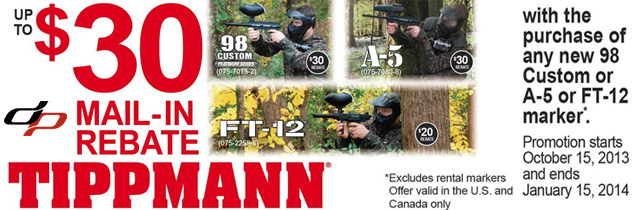 Tippmann Rebate Offer