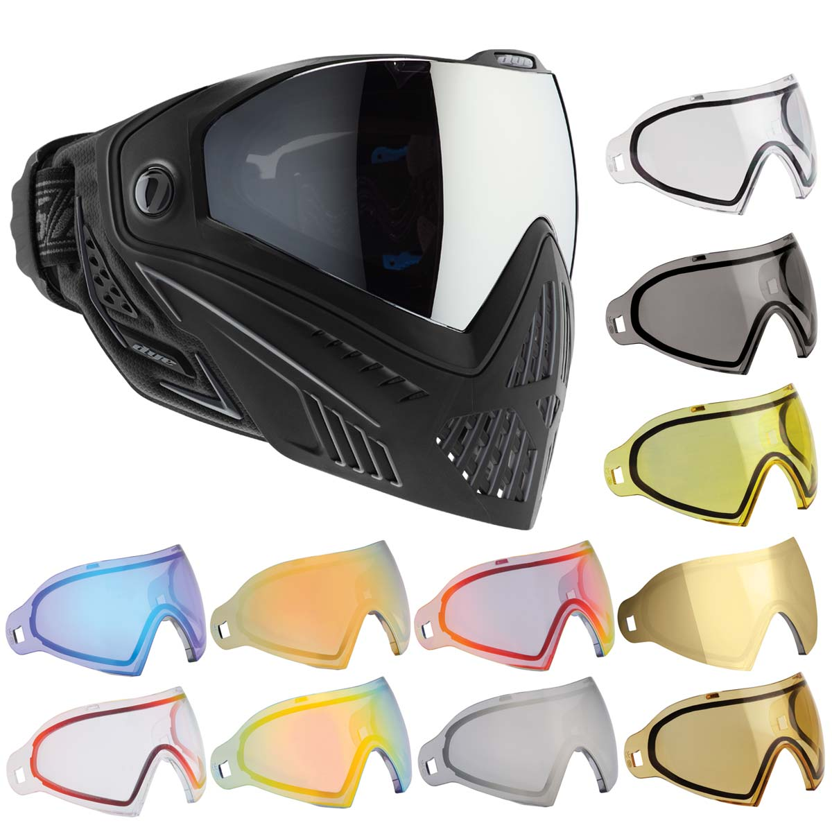 Grey New Dye I5 Thermal Paintball Goggle Goggles Mask Black Onyx
