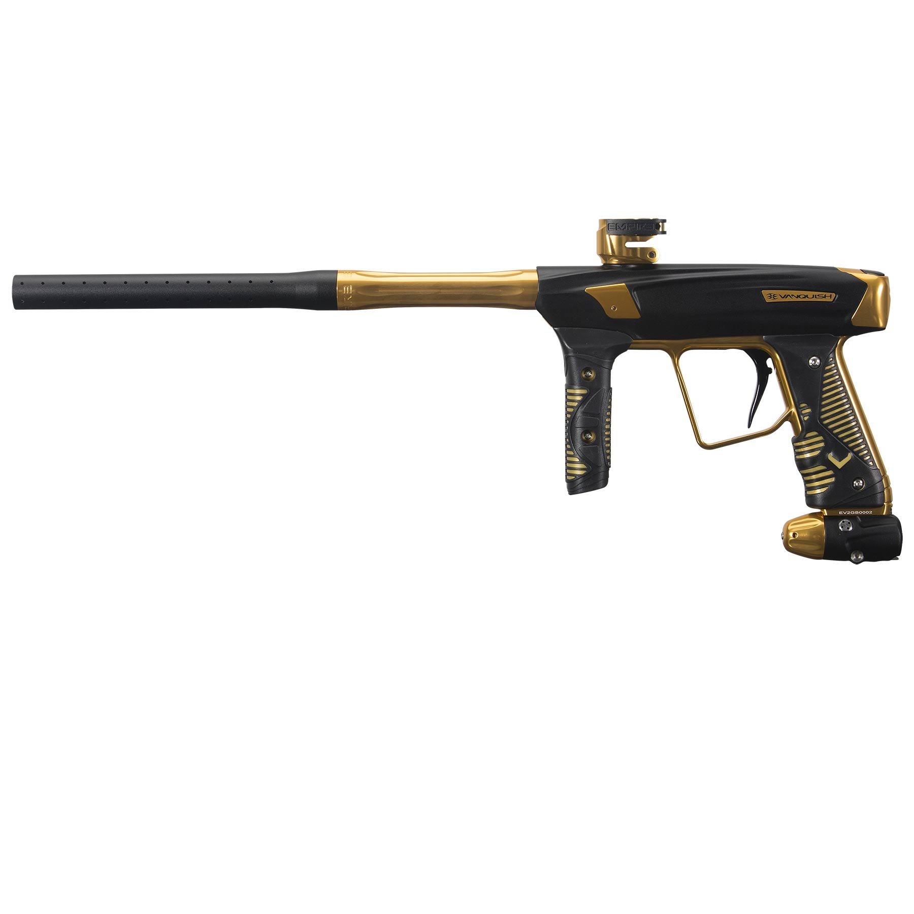 Empire Vanquish GT Paintball Marker w/ V16 Drivetrain Gold Strike
