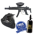 BT BT-4 Delta Elite Paintball Gun Black with Helix Goggles and FREE 47/3000 Air Tank