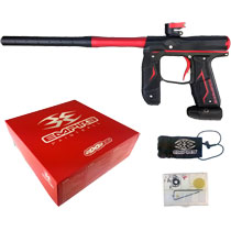 Empire Axe 2.0 Paintball Marker Dust Black Dust Red