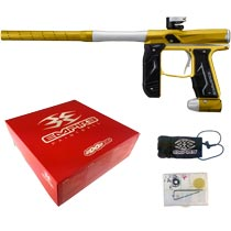 Empire Axe 2.0 Paintball Marker Dust Gold Dust Silver