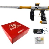 Empire Axe 2.0 Paintball Marker Dust Silver Dust Gold