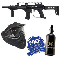 Empire BT-4 Slice G36 Paintball Marker with Helix Goggles and FREE 47/3000 Air Tank