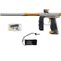 Empire Mini GS Paintball Marker Silver Gold Dust w 2 PC Barrel