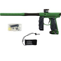 Empire Mini GS Paintball Marker Green Brown Dust w 2 PC Barrel