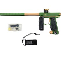 Empire Mini GS Paintball Marker Olive Tan Dust w 2 PC Barrel