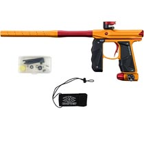 Empire Mini GS Paintball Marker Orange Red Dust w 2 PC Barrel