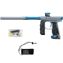 Empire Mini GS Paintball Marker Grey Navy Blue Dust w 2 PC Barrel