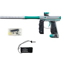 Empire Mini GS Paintball Marker Grey Teal Dust w 2 PC Barrel