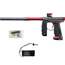 Empire Mini GS Paintball Marker Grey Red Dust w 2 PC Barrel