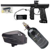 Empire Mini GS Paintball Gun Black Dust Package D