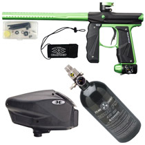 Empire Mini GS Paintball Gun Black/Lime Green Dust Package D