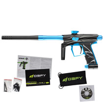 D3FY Sports D3S Paintball Gun Black Teal With Tadao Board