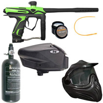 GOG eXTCy Paintball Gun With Blackheart Board Freak Green Package B
