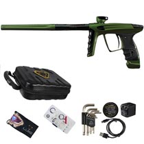 DLX Luxe X Paintball Gun Dust Olive Polished Black Accents
