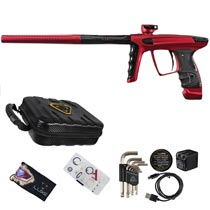 DLX Luxe X Paintball Gun Dust Red Polished Black Accents