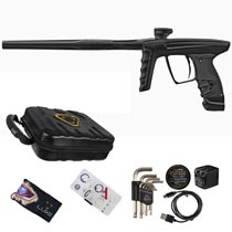DLX Luxe X Paintball Gun Polished Black Polished Black Accents